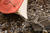 Beached boat — Stock Photo