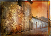 Foto d'epoca di una strada francese rustica — Foto Stock