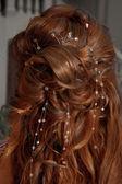 Lunghi capelli ricci — Foto Stock