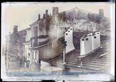Grunge town vintage background — Stock Photo