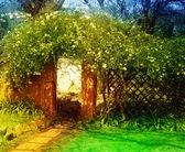 очарованный сад — Стоковое фото
