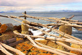 Construction rustique à côté de l'océan — Photo