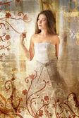 Grunge Beautiful bride — Stock Photo