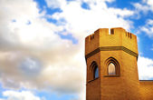 Brick tower of medieval castle — Stock Photo