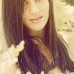 Beautiful retro girl — Stock Photo