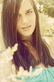 красивая девушка ретро — Стоковое фото