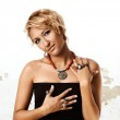 Woman with Turkish Ottoman rings — Stock Photo