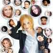 Young woman social networking — Stock Photo
