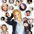Young woman social networking — Stock Photo #5619762