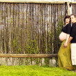 Pregnant couple outdoors — Stock Photo