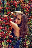 Beautiful smiling young woman — Foto Stock