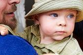 小男孩脸. — 图库照片