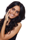 Smiling woman with long hair — Stock Photo