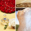 Royalty-Free Stock Photo: Collage of beautiful wedding accessories.