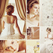 Collage of beautiful blonde bride. — Stock Photo #6412361