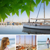 Collage of holidays by the sea . — Stockfoto