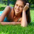 Young teenage woman outdoors — Stock Photo