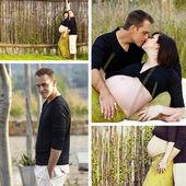 Coppia incinta — Foto Stock