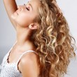Stock Photo: Long curly hair