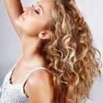 Long curly hair — Stock Photo
