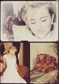 Collage of beautiful blonde bride — Stock Photo