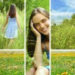 Collage of a woman in grass. — Stock Photo #6652961