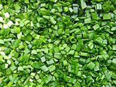 Cutted onion leafs — Stock Photo