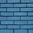Blue brick wall - Stock Photo