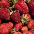 Stock Photo: Lots of ripe strawberries