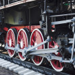 Stock Photo: Wheels of the old steam locomotive