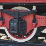 Wheel of the old steam locomotive — Stock Photo