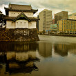 Tokyo, Imperial palace with the city - Stock Photo