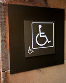 Wheelchair or Handicapped Sign — Stock Photo