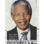 Nelson Mandela Stamp — Stock Photo