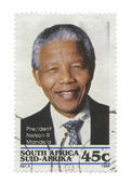 Nelson Mandela Stamp — Stock Photo