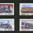 Train Stamps — Stock Photo