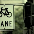 Urban traffic, bicycle Sign — Stock Photo