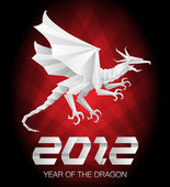 2012 Origami Year of the Dragon — Stock Vector