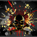 Grungy Skull Background — Stock Vector
