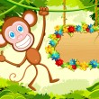 Jumping Monkey - Stock Vector