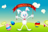 Bunny Wishing Easter — Stock Vector