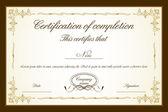 Certificate Template — Vector de stock