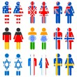 Human Icon of Different Nation — Stock Vector