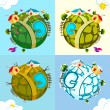Royalty-Free Stock Vector Image: Earth in different Season
