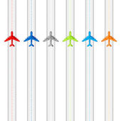 Flying Airplanes — Stock Vector