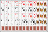 Komple set oyun kağıdı — Stok Vektör