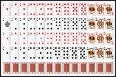 Kompletní sada hrací karty — Stock vektor