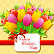 Happy Mother's Day Card — Imagen vectorial