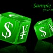 Dice with Currency Symbol - Image vectorielle