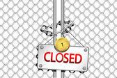 Closed — Stock Vector